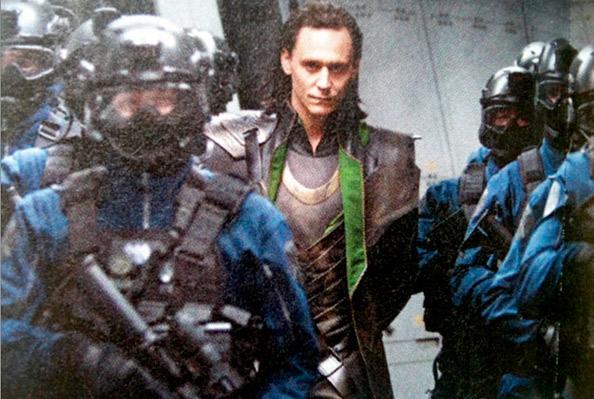 Tom Hiddleston as Loki being taken away!