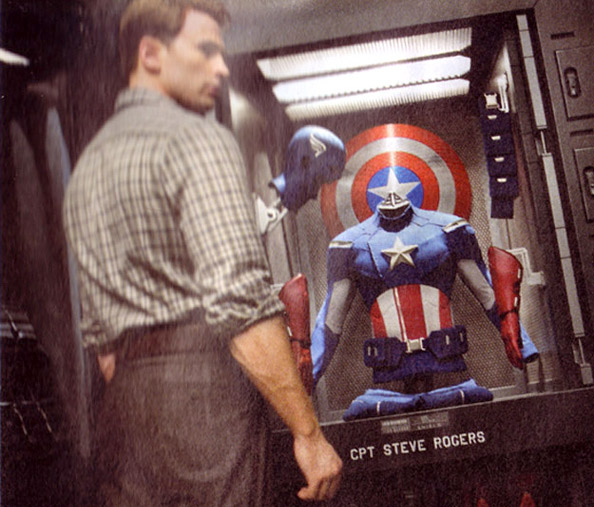Chris Evans checking out the new gear